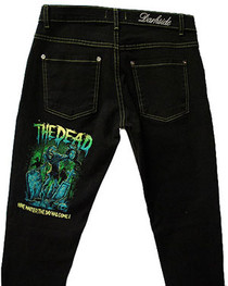 The Dead Coloured Stitching Low Rise Jeans