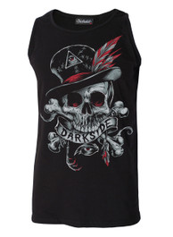 Voodoo Darkside Skull Black Cotton Vest