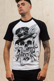 Voodoo Skull Darkside Mens Baseball T-Shirt