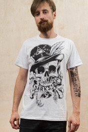 Voodoo Skull Darkside Mens White T-Shirt