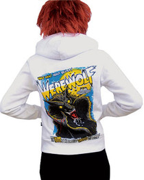 Werewolf White Fleece Hood