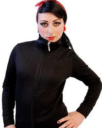 Womens Black Zip Jacket