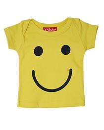 Yellow Smiley Baby T Shirt