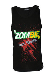 Zombie Eat Flesh Black Vest