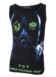 Zombie Face Mask Beater Vest