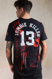 Zombie Killer 13 Black T-Shirt