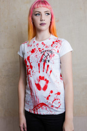 Zombie Killer 13 Womens White T Shirt