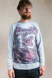 Zombie Killer Blue Sweatshirt