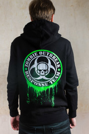Zombie Response Glow In The Dark Zip Hood