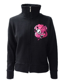 Evil Care Bear Womens Zip Jacket