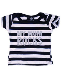 Stripey My Mum Rocks Kids T Shirt