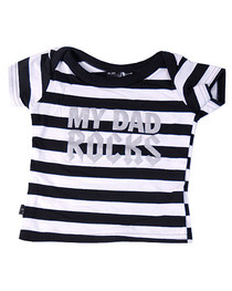 Stripey Dad Rocks Kids T Shirt