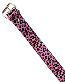 Pink Leopard Fur Belt 38mm