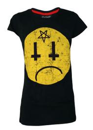Satans Smiley Womens T Shirt