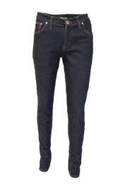 Dark Blue Regular Rise Skinny Jeans