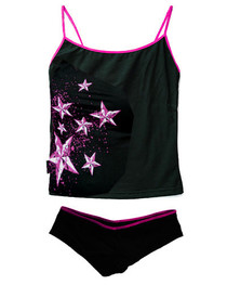 Star Splat Hipster Underwear Set With Pink Trim