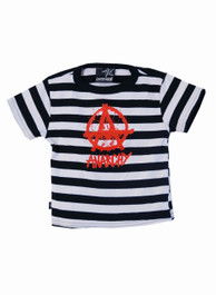 Stripey Anarchy Kids T Shirt