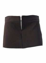Black With Red Pinstripe Mini Skirt