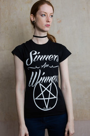 Sinners Are Winners Womens T Shirt