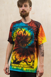 Baphomet Rainbow Tie Dye T Shirt