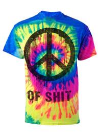 Peace Of Shit Neon Tie Dye T Shirt