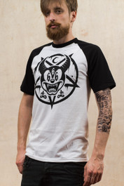 Mickey 666 Mens Baseball T-Shirt