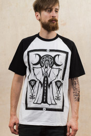 Cult Priest Mens Baseball T-Shirt