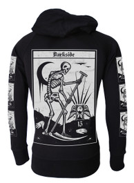 Death Tarot Card Cotton Zip Hood