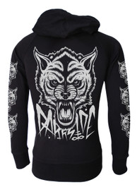 Wolf Cotton Zip Hood