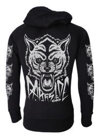 Wolf Cotton Zip Hood