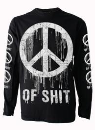 Peace of Shit Mens Long Sleeve T Shirt