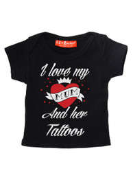 I Love Mum And Her Tattoos Baby/Kids T-Shirt