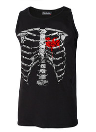Red Ribs Muscle Vest