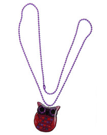 Hoots Red Owl Necklace