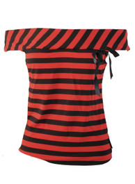 Red Stripey 1950s Top