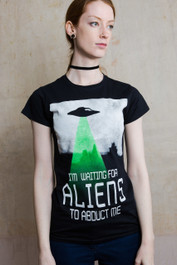 Alien Abduction Womens T Shirt