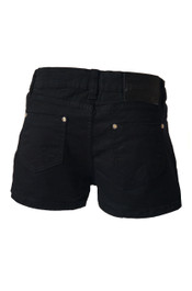 Black Denim Hot Pants