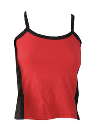 Red Vest With Black Side Panels