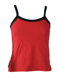 Red Vest With Black Trim