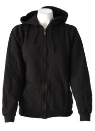 Womens Black Zip Hood With Gold Zip