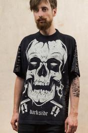 Skull Black Spine Tie Dye T Shirt