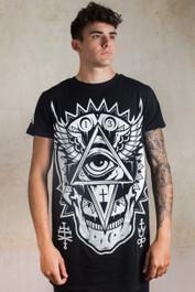 All Seeing Eye Mens Longline T Shirt