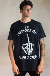 In Memory Of When I Cared Mens Longline T Shirt