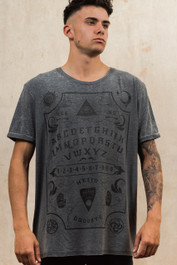 Ouija Board Mens Grey Burnout T-Shirt