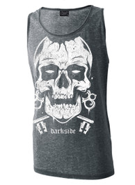 Skull Mens Grey Burnout Vest