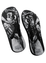 Snow White Skeleton Flip Flops