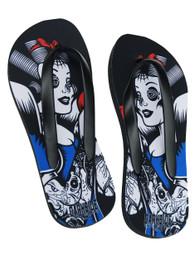 Snow White Tattoo Flip Flops