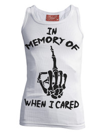 In Memory Of When I Cared White Beater Vest