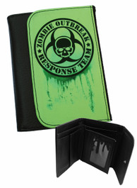 Zombie Response Green Mens Wallet
