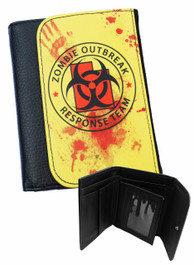 Zombie Outbreak Yellow Mens Wallet